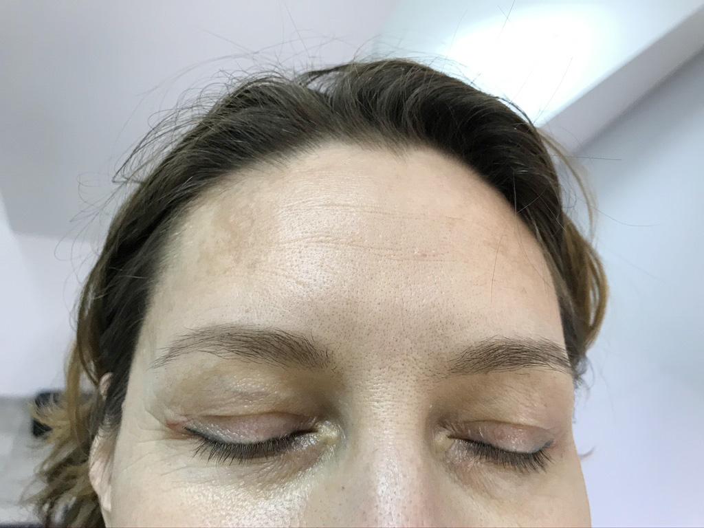 перманентный макияж бровей спустя год