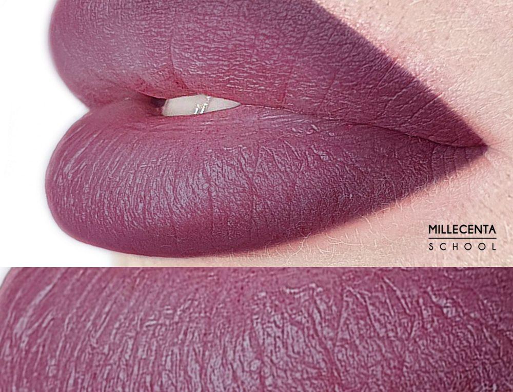 Перманентный макияж лиловых губ