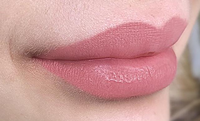 Перманентный макияж губ Минск - зажившие губы