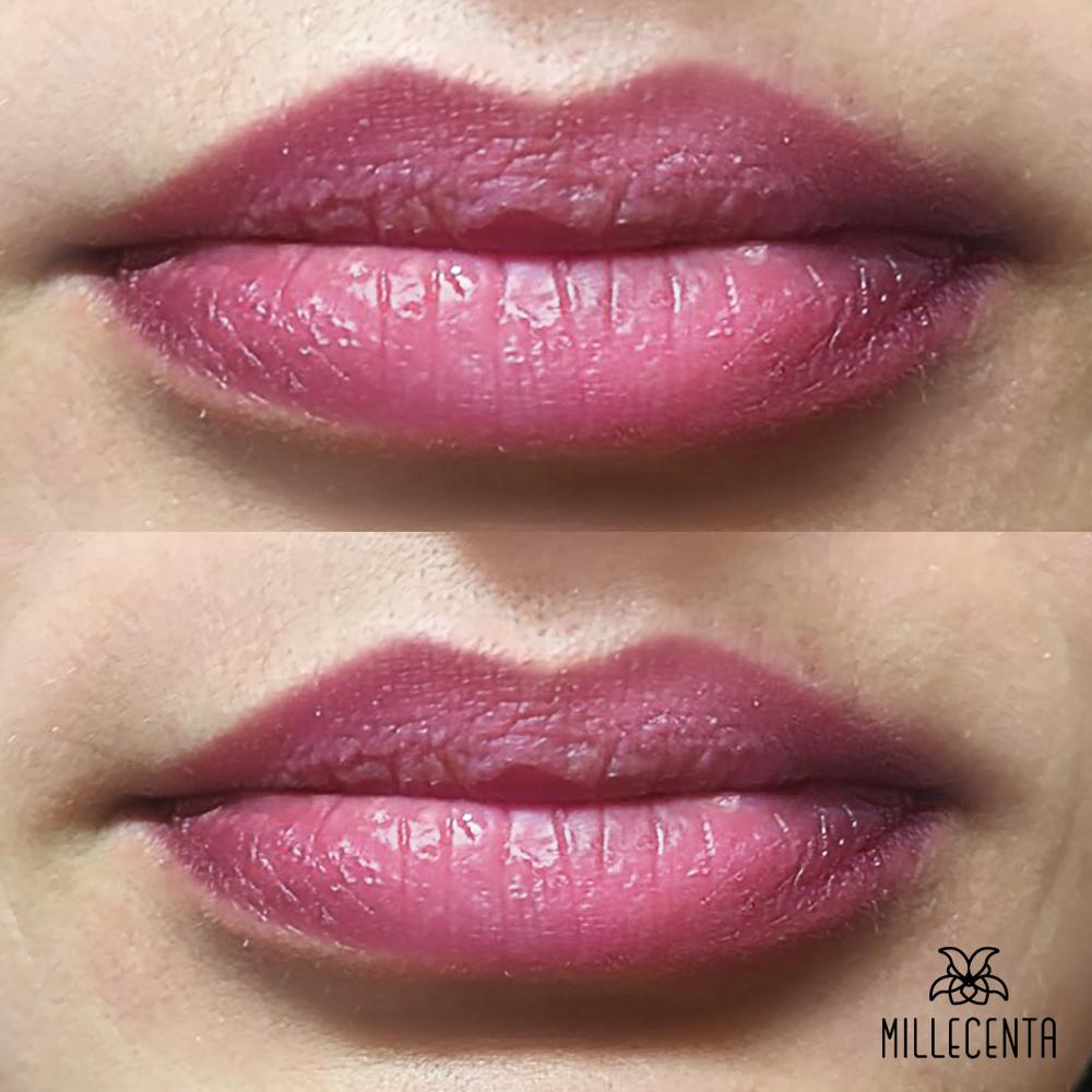 Заживший перманентный макияж губ