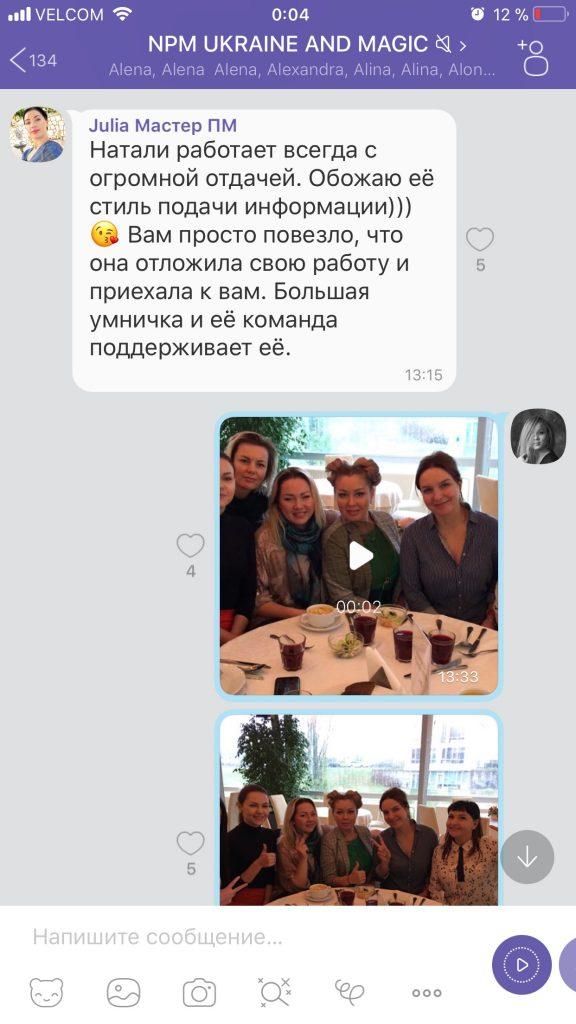 Международный мастер-класс Наталии Масной. Отзывы
